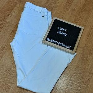 LUCKY BRAND White Ginger Straight Leg Jeans